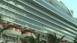 HD2008-8-13-11 cruise ship Stock Video Footage