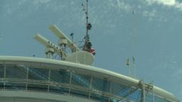 HD2008-8-13-13 cruise ship radar Stock Video Footage