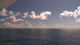 HD2008-8-13-23 TL open ocean passing clouds Stock Video Footage
