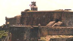 HD2008-8-13-39 San Juan fort from ocean Footage