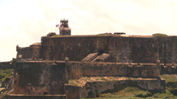 HD2008-8-13-39 San Juan fort from ocean Stock Video Footage