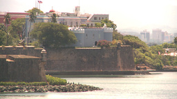 HD2008-8-13-41 San Juan fort from ocean Footage