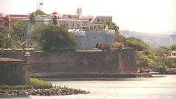 HD2008-8-13-41 San Juan fort from ocean Stock Video Footage