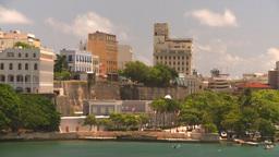 HD2008-8-13-47 San Juan from ocean Stock Video Footage