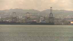 HD2008-8-13-51 San Juan harbor from ocean Stock Video Footage