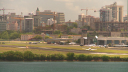 HD2008-8-14-3 San Juan airport light aircraft landing Stock Video Footage