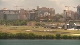 HD2008-8-14-3 San Juan airport light aircraft landing Stock Video Footage