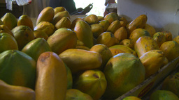 HD2008-8-14-9 San Juan the market fruit veggies Footage