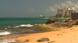 HD2008-8-14-11 San Juan beach Stock Video Footage