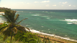 HD2008-8-14-19 San Juan beach surf palms Stock Video Footage