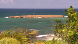 HD2008-8-14-21 San Juan beach surf palms Stock Video Footage