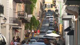 HD2008-8-14-39 San Juan old town traffic cobblestone Footage