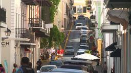 HD2008-8-14-39 San Juan old town traffic cobblestone Stock Video Footage