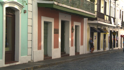 HD2008-8-14-41 San Juan old town buildings Stock Video Footage
