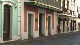 HD2008-8-14-41 San Juan old town buildings Stock Video Footage