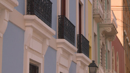 HD2008-8-14-51 San Juan old town buildings Stock Video Footage