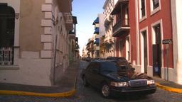 HD2008-8-14-57 San Juan old town buildings Stock Video Footage