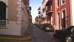 HD2008-8-14-57 San Juan old town buildings Stock Video Footage