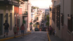 HD2008-8-14-59 San Juan old town buildings Stock Video Footage
