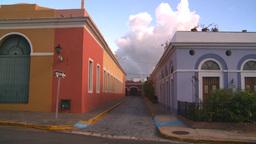 HD2008-8-14-61 San Juan old town buildings Stock Video Footage