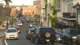 HD2008-8-14-71 San Juan old town buildings traffic Stock Video Footage