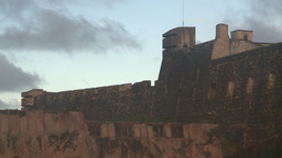 HD2008-8-15-3 San Juan old town fort Stock Video Footage