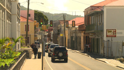 HD2008-8-15-20 StThomas old town traffic Stock Video Footage