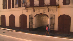 HD2008-8-15-22 StThomas old town traffic Stock Video Footage