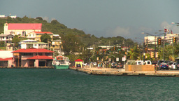 HD2008-8-15-28 StThomas old town harbor Stock Video Footage
