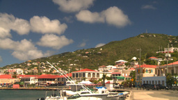 HD2008-8-15-32 StThomas old town harbor hillside Footage
