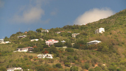 HD2008-8-15-32 StThomas old town harbor hillside Stock Video Footage