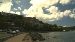 HD2008-8-15-34 StThomas old town traffic Stock Video Footage