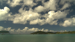 HD2008-8-15-36 StThomas bay boats Stock Video Footage