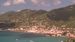 HD2008-8-15-50 StThomas hillside harbor Stock Video Footage