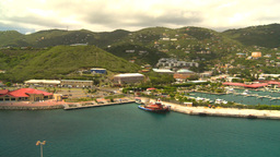 HD2008-8-16-3 StThomas harbor pan Footage