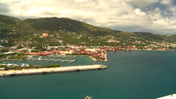 HD2008-8-16-3 StThomas harbor pan Stock Video Footage