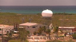 HD2008-8-16-9 Turks ocean land spit radar Stock Video Footage