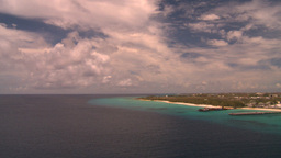 HD2008-8-16-11 Turks ocean land spit Stock Video Footage