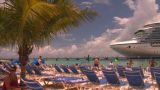HD2008-8-16-14 Turks Cruise Ship And Chairs stock footage