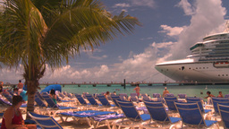 HD2008-8-16-14 Turks cruise ship and chairs Stock Video Footage