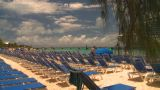 HD2008-8-16-18 Turks Cruise Ship And Chairs stock footage