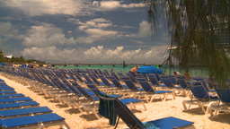 HD2008-8-16-18 Turks cruise ship and chairs Stock Video Footage