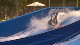 HD2008-8-16-20 Turks man on surf machine Stock Video Footage