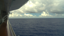 HD2008-8-16-30 ship and ocean from deck Stock Video Footage
