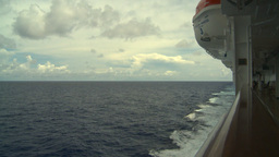 HD2008-8-16-32 ships wake from deck Stock Video Footage