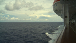 HD2008-8-16-32 Ships Wake From Deck stock footage