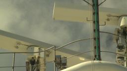 HD2008-8-17-2 ship radar Stock Video Footage