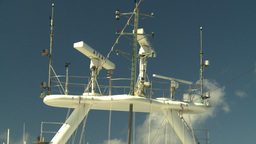 HD2008-8-17-6 ship radar Z Stock Video Footage