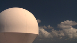 HD2008-8-17-10 radar dome Stock Video Footage