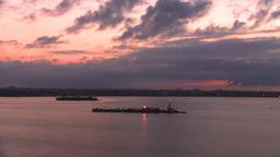 HD2008-8-17-18 dawn NYC harbor Stock Video Footage